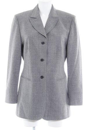 Rosner Lange blazer grijs gestippeld zakelijke stijl