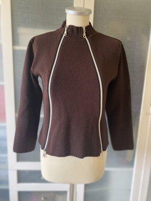 Rosner Fine Knit Jumper black brown wool