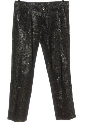 Rosner Pantalone a sigaretta cachi stampa integrale stile casual