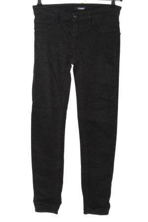Rosner Skinny Jeans schwarz Streifenmuster Casual-Look