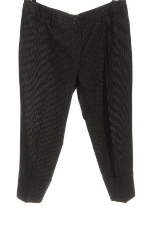 Rosner Pantalone jersey nero-grigio chiaro motivo a righe stile professionale