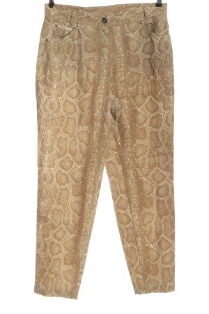 Rosner Pantalone jersey color carne motivo animale elegante