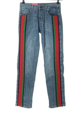 Rosner Jeansy z prostymi nogawkami Wzór w paski W stylu casual