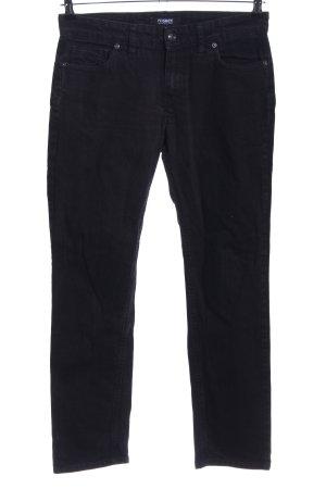 Rosner Jeansy z prostymi nogawkami czarny W stylu biznesowym