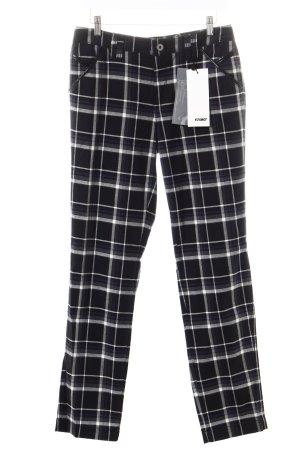 Rosner Jeansy z prostymi nogawkami Wzór w kratkę W stylu casual