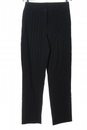 Rosner Stretch Trousers black striped pattern business style