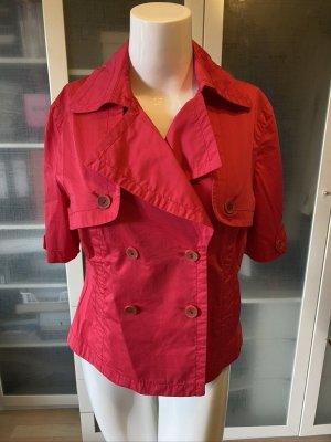 Rosner Short Blazer red linen