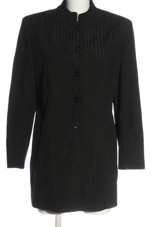 Rosner Between-Seasons-Coat black striped pattern casual look