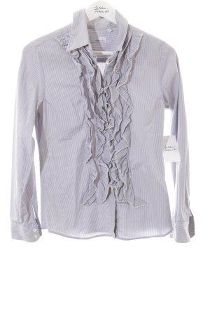 rossana diva Hemd-Bluse blassblau-weiß Streifenmuster Elegant