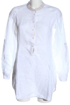 rossana diva Robe chemise blanc style d'affaires