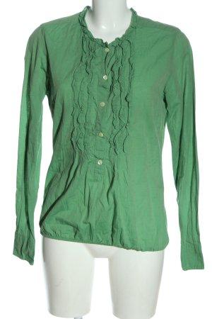 rossana diva Langarm-Bluse grün Casual-Look