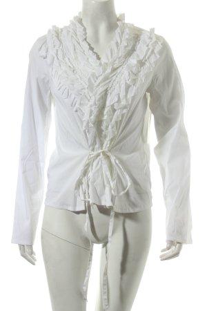 rossana diva Langarm-Bluse weiß Elegant