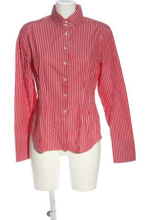 rossana diva Koszula z długim rękawem czerwony-biały Wzór w paski