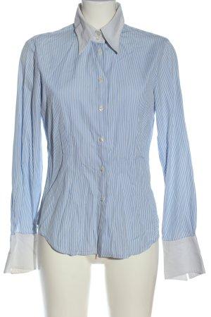 rossana diva Langarmhemd blau-weiß Streifenmuster Casual-Look