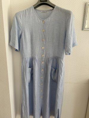 rossana diva Koszulowa sukienka błękitny Len