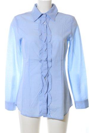 rossana diva Rüschen-Bluse blau Business-Look