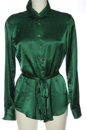 rossana diva Blouse en soie vert style décontracté