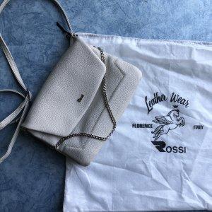 Rossi Handtasche weißgrau hellgrau beige Leder