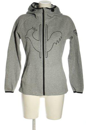 Rossignol Giacca fitness grigio chiaro-nero puntinato stile casual