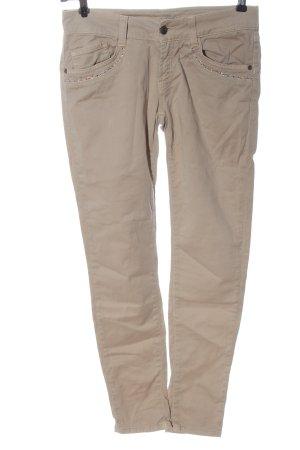 Rossodisera Jeans vita bassa color carne stile casual