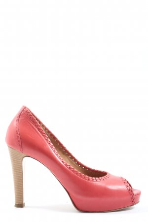 rossono biseouti Peep Toe Pumps red elegant