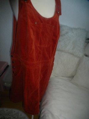 bpc Overgooier overall rok roodbruin Katoen