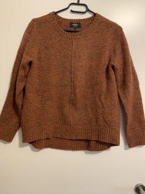 Only Sweter z okrągłym dekoltem rudy