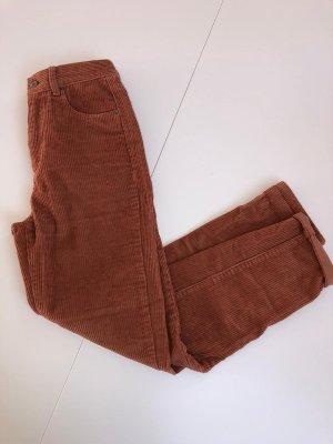 Rostrote Cordhose Pull&Bear