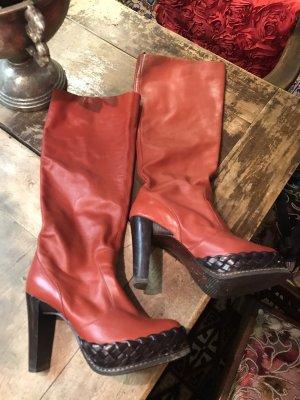Platform Boots russet-brick red