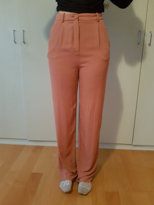 Mango Suit Pantalone palazzo cognac-ruggine Viscosa