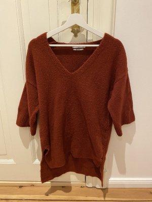 Mango V-Neck Sweater russet