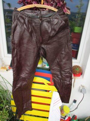 rot / braune Lederhose