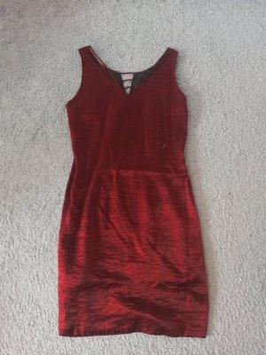 Rot Glänzendes Abendkleid