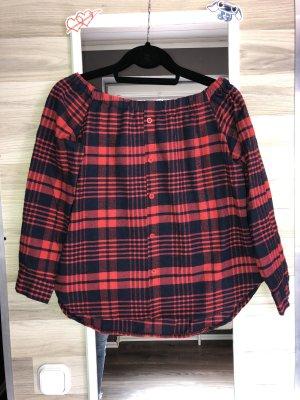 Bluza dresowa czarny-ciemnoczerwony