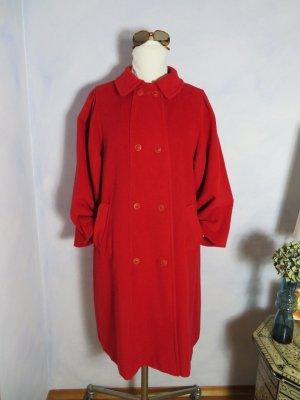 VINTAGE  70er Wool Coat red mixture fibre