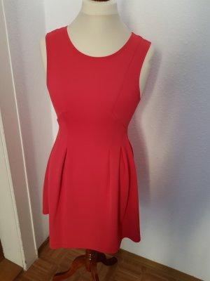 rot/ pinkes Sommerkleid/ Businesskleid, tailliert, Reißverschluss am Rücken