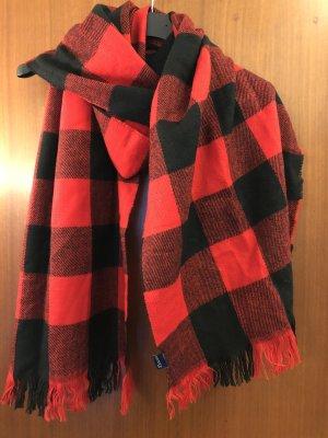 H&M Divided Sjaal met franjes zwart-rood