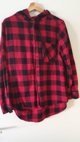 FB Sister Koszula w kratę czarny-czerwony Bawełna
