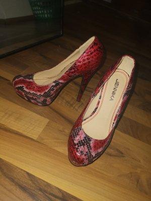 rot schwarze high heels