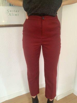 Forever 21 Pantalone a 7/8 nero-rosso scuro