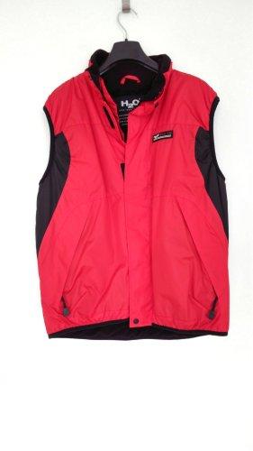 Rot-schwarze Weste von H2O Sportswear, Fleece - Windbreaker