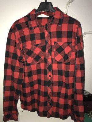 H&M Flannel Shirt black-red