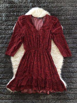 Zara Sukienka typu babydoll czarny-czerwony