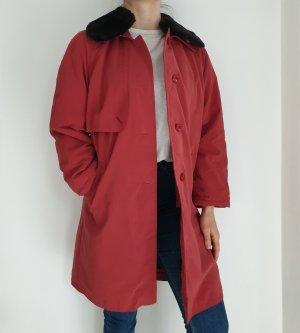 rot True Vintage 38 Jacke Übergangsjacke Mantel Trenchcoat Oversize Trench Coat