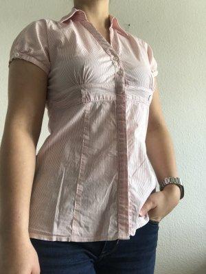 Rot/weiß gestreifte Bluse