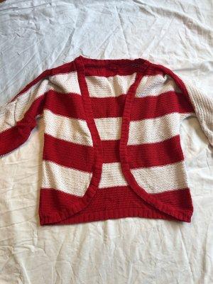 Livre Giacca di lana bianco-rosso