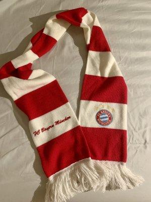 Rot weiß gestreifter FC Bayern Schal Fan Schal