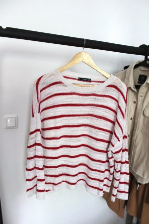 Rot Weiß gestreiftes Langarmshirt