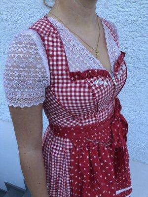 rot-weiß kariertes Dirndl mit Schürze