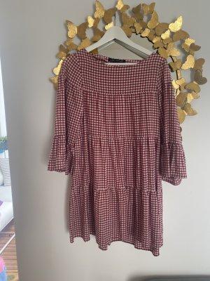 Rot/weiß kariertes Kleid von Zara